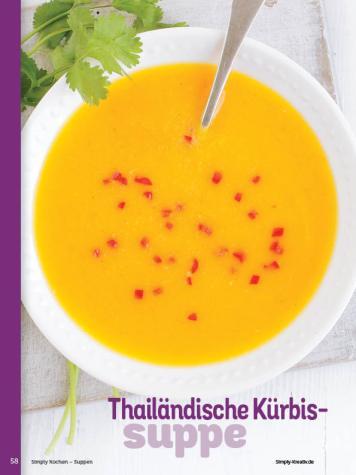 Rezept - Thailändische Kürbis-Suppe - Simply Kochen Sonderheft - Suppen und Eintöpfe - 01/2019