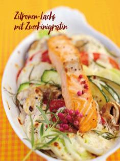 Rezept - Zitronen-Lachs mit Zucchinigratin - Bewusst Low Carb – 04/2019