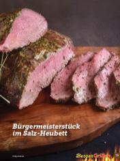 Rezept - Bürgermeisterstück im Salz-Heubett - Simply Kochen Sonderheft Besser Grillen mit den Grillweltmeisten