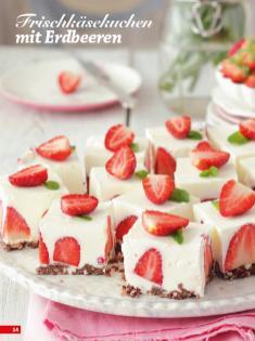 Rezept - Frischkäsekuchen mit Erdbeeren - Simply Backen Sonderheft Kühlschranktorten ohne Backen