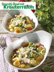 Rezept - Gnocchi-Bowl mit Kräuterrahm und Gemüse - Simply Kochen Sonderheft So schmeckt der Frühling