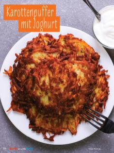 Rezept - Karottenpuffer mit Joghurt - Simply Kochen mit und für Kinder - mit Nina Kämpf von Mamaaempf