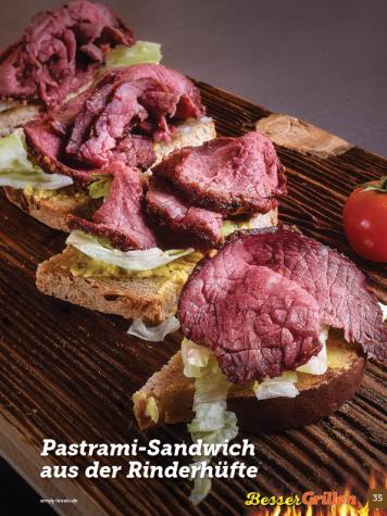 Rezept - Pastrami-Sandwich aus der Rinderhüfte - Simply Kochen Sonderheft Besser Grillen mit den Grillweltmeisten
