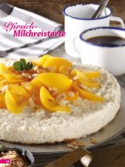 Rezept - Pfirsich-Milchreistorte - Simply Backen Sonderheft Kühlschranktorten ohne Backen