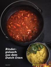 Rezept - Rindergulasch aus dem Dutch-Oven - Simply Kochen Sonderheft Besser Grillen mit den Grillweltmeisten
