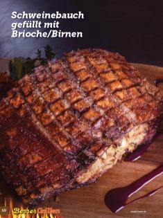 Rezept - Schweinebauch gefüllt mit Brioche-Birnen - Simply Kochen Sonderheft Besser Grillen mit den Grillweltmeisten