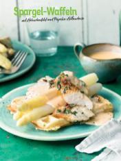 Rezept - Spargel-Waffeln mit Hähnchenfilet und Paprika-Hollandaise - Simply Kochen Sonderheft So schmeckt der Frühling
