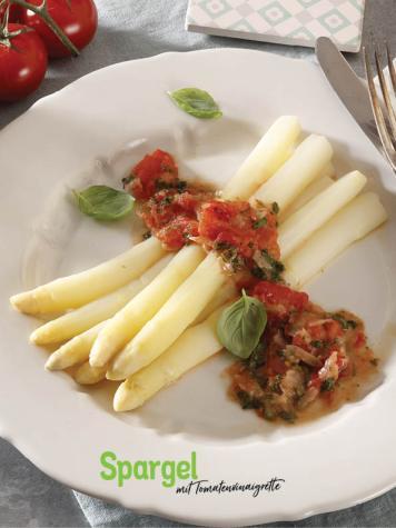 Rezept - Spargel mit Tomatenvinaigrette - Simply Kochen Sonderheft So schmeckt der Frühling