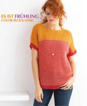 Strickanleitung - Es ist Frühling - Color-Block-Shirt - Designer Knitting - 03/2019