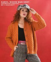 Strickanleitung - Karos wohin man sieht - Zopfmuster-Cardigan mit V-Ausschnitt - Designer Knitting - 03/2019