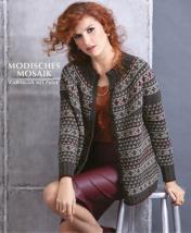 Strickanleitung - Modisches Mosaik - Cardigan mit Passe - Designer Knitting - 03/2019