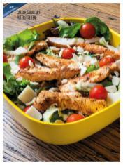 Rezept - Caesar Salad mit Putenstreifen - Bewusst Low Carb – 05/2019