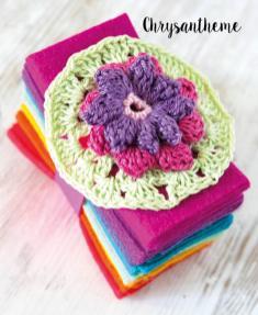 Häkelanleitung - Chrysantheme - Mini Granny-Blumen häkeln Vol. 9