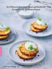 Rezept - In Palmzucker und Rum gebackene Ananas mit Kokosmousse - Healthy Vegan Sonderheft - Sommerspecial