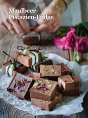 Rezept - Maulbeer-Pistazien-Fudge - Healthy Vegan Sonderheft - Sommerspecial
