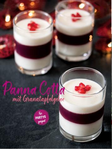 Rezept - Panna Cotta mit Granatapfelgelee - Simply Kochen Sonderheft Sommerrezepte