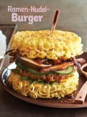 Rezept - Ramen-Nudel-Burger - Simply Kochen Sonderheft Nudeln