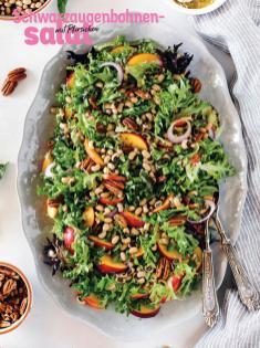 Rezept - Schwarzaugenbohnensalat mit Pfirsichen - Simply Kochen Sonderheft Sommer-Salate