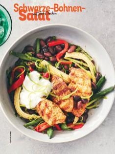 Rezept - Schwarze-Bohnen-Salat mit Jerk-Chicken - Simply Kochen Sonderheft Sommer-Salate