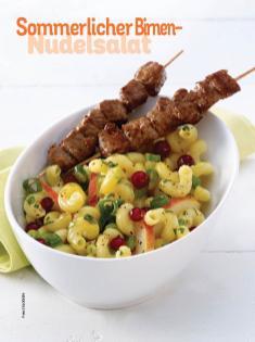 Rezept - Sommerlicher Birnen-Nudelsalat - Simply Kochen Sonderheft Nudeln