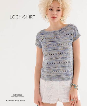 Strickanleitung - Loch-Shirt - Designer Knitting 04/2019