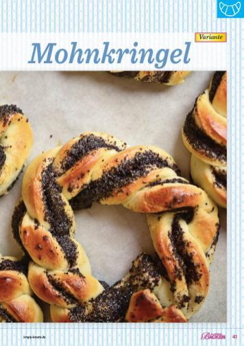 Backanleitung - Mohnkringel - Das große Backen 05/2019