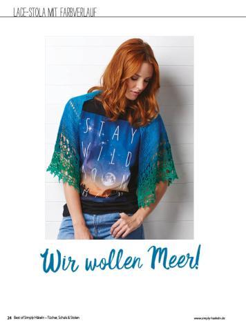 Häkelanleitung - Wir wollen Meer! - Simply Häkeln Best of Tücher, Schals und Stolen - 01/2019