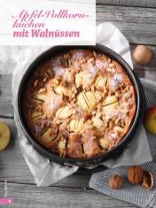Rezept - Apfel-Vollkorn-Kuchen mit Walnüssen - Simply Backen - 04/2019