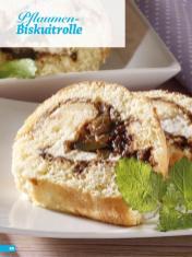 Rezept - Pflaumen-Biskuitrolle - Simply Backen Sonderheft Kuchen Äpfel + Pflaumen