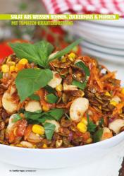 Rezept - Salat aus weißen Bohnen, Zuckermais & Möhren mit Tomaten-Kräuterdressing - Healthy Vegan 05/2019