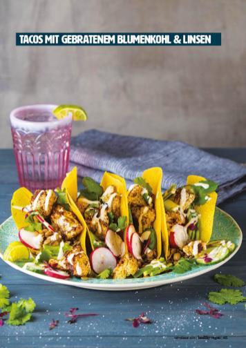 Rezept - Tacos mit gebratenem Bluhmenkohl & Linsen - Healthy Vegan 05/2019