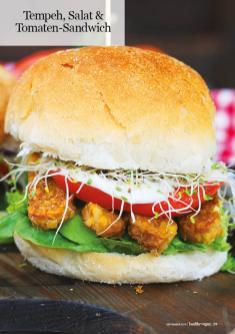 Rezept - Tempeh, Salat & Tomaten-Sandwich - Healthy Vegan 05/2019