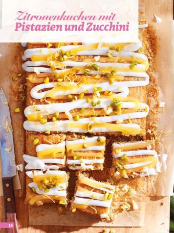 Rezept - Zitronenkuchen mit Pistazien und Zucchini - Simply Backen - 04/2019