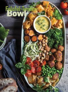 Rezept - Falafel-Tomaten-Bowl mit Honig-Senf-Dip - Simply Kochen Sonderheft Bowls