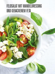 Rezept - Feldsalat mit Mandeldressing und gebackenem Feta - Bewusst Lowcarb Sonderheft - 02/2019