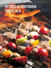 Rezept - Filetspieß mit Kidneybohnen-Tomaten-Salsa - Bewusst Lowcarb Sonderheft - 02/2019