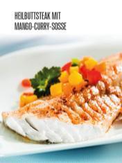 Rezept - Heilbuttsteak mit Mango-Curry-Soße - Bewusst Lowcarb Sonderheft - 02/2019