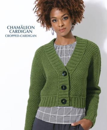 Strickanleitung - Chamäleon Cardigan - Cropped Cardigan - Designer Knitting - 05/2019