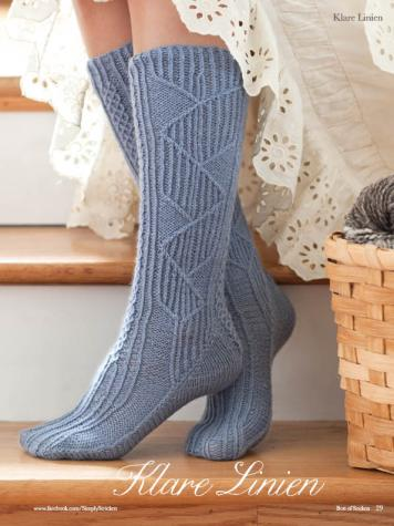 Strickanleitung - Klare Linien - Simply Kreativ - Best of Socken Stricken - 01/2019