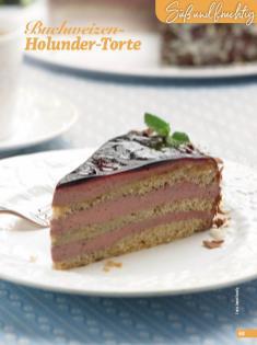 Rezept - Buchweizen-Holunder-Torte - Simply Backen Special Weihnachtskuchen