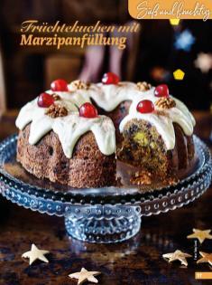 Rezept - Früchtekuchen mit Marzipanfüllung - Simply Backen Special Weihnachtskuchen