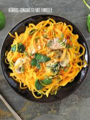 Rezept - Kürbis-Spaghetti mit Forelle - Bewusst Low Carb – 06/2019