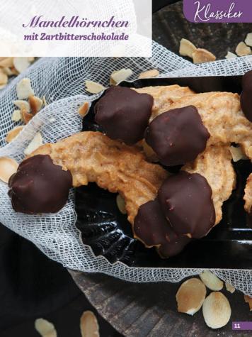Rezept - Mandelhörnchen mit Zartbitterschokolade - Simply Kreativ Glutenfrei Weihnachtsbacken – 01/2019