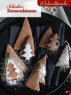 Rezept - Schoko-Tannenbäume - Simply Kreativ Glutenfrei Weihnachtsbacken – 01/2019