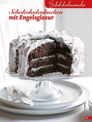Rezept - Schokoladenkuchen mit Engelsglasur - Simply Backen Special Weihnachtskuchen