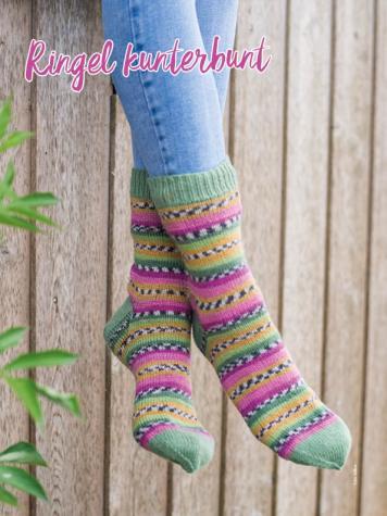 Strickanleitung - Ringel kunterbunt - Simply Kreativ – Best of Simply Stricken Socken