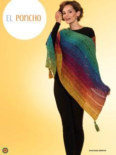 Häkelanleitung - El Poncho - Simply Kreativ Häkeln mit Farbverlaufs-Bobbeln Vol. 4 Heft 04/2019