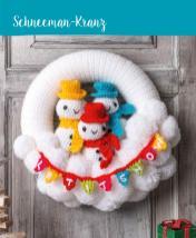 Häkelanleitung - Schneeman-Kranz - Mini Häkeln Weihnachts-Ideen Vol. 11