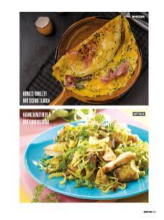 Rezept - Buntes Omelett mit Schnittlauch & Hähnchenstreifen mit Currygemüse - Bewusst Low Carb Sonderheft: 4 Kilo in 30 Tagen - 01/2020