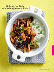 Rezept - Gebratener Tofu mit Aubergine und Reis - Healthy Vegan Sonderheft - Vegan Jahrbuch